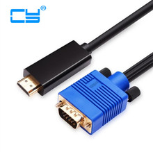 5ft 10ft 30ft HDMI Male to VGA male cable with usb power and audio 3.5mm Converter for Projector HDTV Monitor TV XBOX 360 PS3