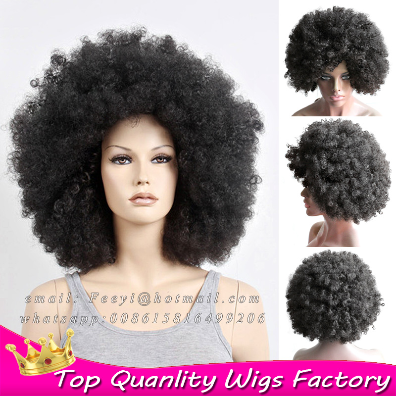 16 Best None Lace Wigs Afro yaki Kinky Curly Wig Soft Synthetic Hair cheap bob afro kinky wigs for black women with baby hair<br><br>Aliexpress