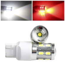1pcs T20 W21W 7440 WY21W 13 LED 5630 5730 SMD car Backup Reserve Lights auto brake light fog lamps 12V red yellow white 2X
