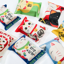 Removable Tissue Box Free shipping!Size 24*17cm Durable Linen Material Lovely Cat Cartoon Wet Wipes Cover,Home Decor Tissue Box.
