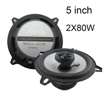 Car Audio 5 inch coaxial car speaker car stereo audio speakers one pair installed 2 way 2x80W for all cars(China)