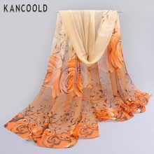Women lady lover flower chiffon scarf Thin Soft Scarf women shawl Beach sunshine cover female beautiful scarf JN6