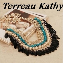 Terreau Kathy Jewelry Hut 2016 New Fashion Bohemia Knitting Necklace Choker Collar Necklace Fine Jewerly For Women Necklace
