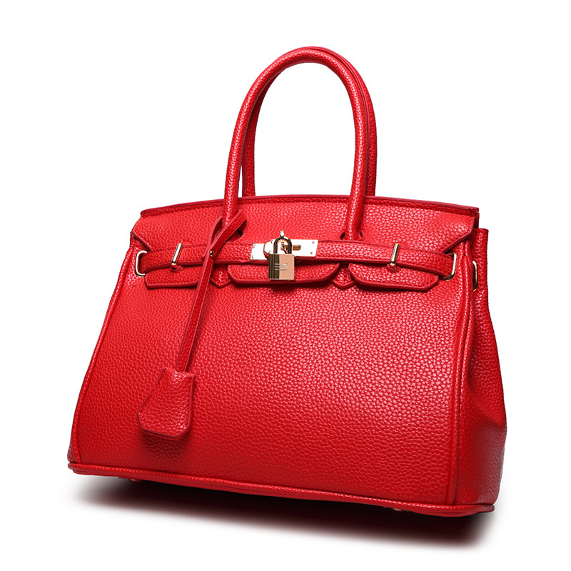 Platinum Big Hand Bag Lock Decor New Trend of European and American Fashion Female Handbags<br><br>Aliexpress