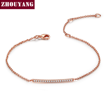 Simple Style Rose Gold Color Bracelet Jewelry For Women Wedding Gift Wholesale Top Quality ZYH127