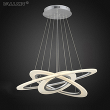 VALLKIN LED Pendant Light Modern Pendant Lamp Contemporary Pendant Lighting Acrylic Hanging Light Indoor Home Lamps CE FCC ROHS