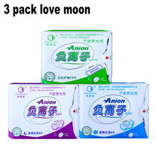 Sanitary pads love moon anion sanitary pads feminine hygiene health care for women pads cotton sanitary napkin anion-winalite(China)