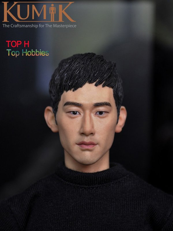 1/6 Head Sculpt Hot KUMIK 15-3 Hot Sideshow Toys TTL Enterbay Custom HT Body<br>