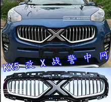 TOP QUALITY AUTO FRONT GRILL GRILLE RACING GRILL COVER X-man version FIT FOR KIA SPORTAGE KX5 CAR 2016 2017