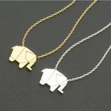Shuangshuo Lucky Elephant Long Chain Long Necklace Women Woodland Elephant Necklaces Pendants Animal Fashion Jewelry Choker N192