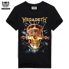 Rocksir heave metal Megadeth new Rock design short sleeve black color wholesale design t shirt t-shirts(China)