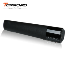 Dual Bass Soundbar 10W Bluetooth Speaker LCD Touch Wireless Speakers Portable Handsfree TF FM caixa de som for xiaomi iPhone PC