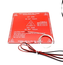 New 3D Printer Parts MK2B Heatbed + LED + Resistor + Cable + 100K ohm Thermistors PCB Heated Bed White Red Black Color!