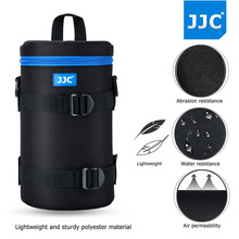 JJC 2017 Deluxe DSLR Camera Lens Pouch Soft JBL Xtreme Waterproof Bag Neoprene Case SLR Photography Belt for Olympus Canon Sony(China)