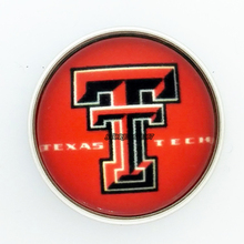 Fans Gift She Say He Say Jewelry NCAA Texas Tech Red Raiders Charms University 18MM Snaps Buttons Fit Snaps Buttons bracelet(China)