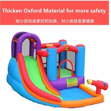 YOU-TOYS New Super Slide Inflatable Bounce House Castle Moonwalk Jumper Bouncer With Blower trampoline retailer(China)
