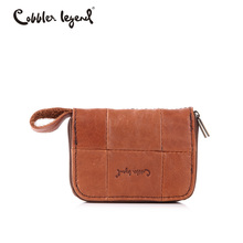 Cobbler Legend Mini Wallet Small Genuine Leather Wallet Female Slim Wallet Women Luxury Brand Pocket Day Clutches Vintage Style(China)