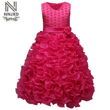 Baby Girl Birthday Wedding Pageant Dress Kids Prom Gown Designs Teenage Girl Evening Dress Children's Girl Party Dresses Size 10