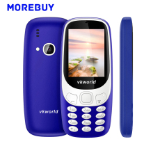 Original Vkworld Z3310 3D Screen 2.4 Inch Mobile Phones Dual SIM Card FM Radio Strong LED Light Elder Phone 2MP 1450mAh 240*320
