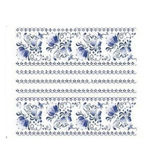 1 Piece  Water Transfers Stickers Nail Decals Stickers Water Decal  China Blue Flower Free Shipping