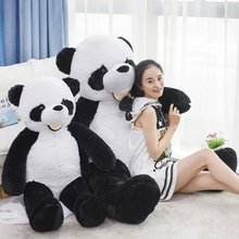 HOT 130cm Cartoon Panda Plush Toy large animial Stuffed plush Panda Doll great birthday gifts for kids(China)