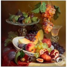 DIY Diamond Painting Diamond Embroidery Still Life with Grapes Hobbies and Crafts Pictures of Rhinestones Material For Handmade