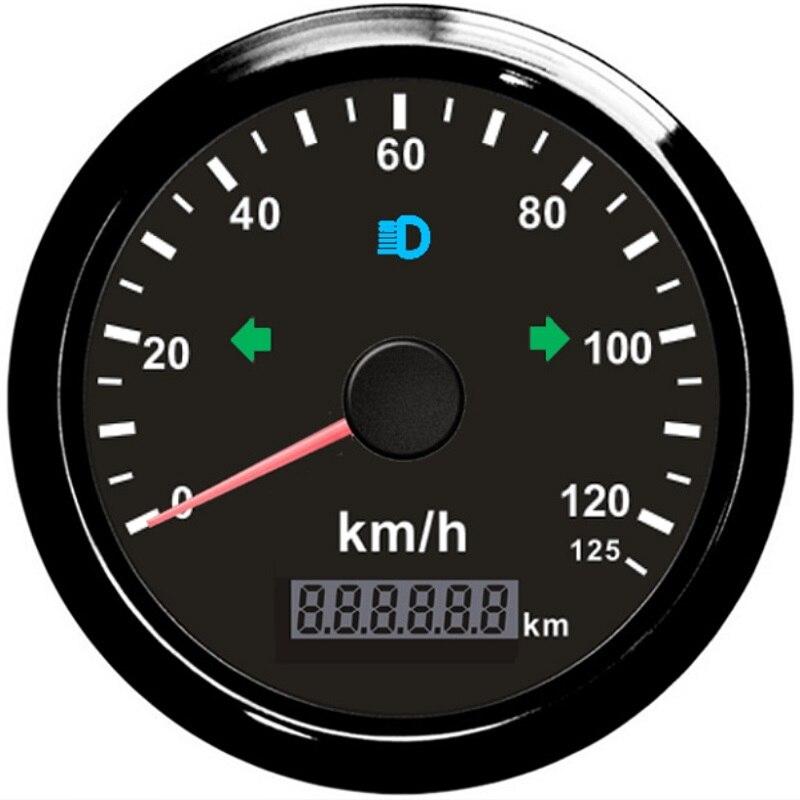 Universal 85mm IP67 Digital Car GPS Speedometer Odometer Mileage Adjustable