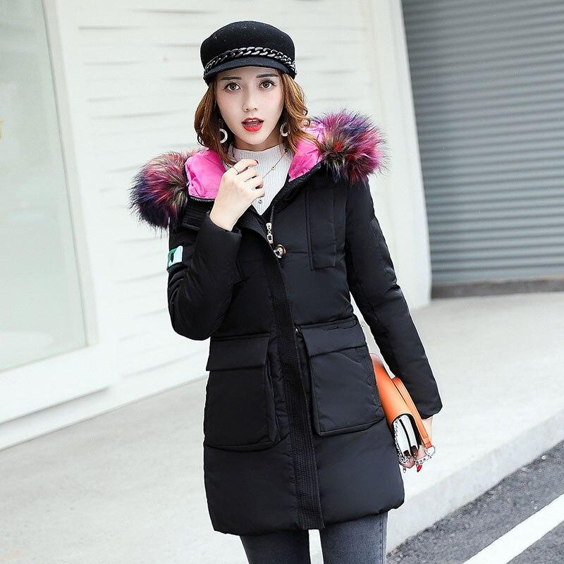 2017 New Thick Winter Jacket Women Fashion Padded Coat Mujer Fur Collar Overcoat Parka Wadded Casaco Feminino Female Jacket C917Îäåæäà è àêñåññóàðû<br><br>