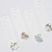 30 Pcs/pack Lovely Flower with Bird Bookmark Paper Cartoon Animals Bookmark Promotional Gift Stationery dual Note Message