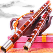 Whistle and Flute Musical Instrument Bamboo Flute C D E F G Transverse Flute Professional  Flauta brass joints Whistle and Flute