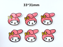 10pcs Resin Planar New Baby rabbit   Bow Flatback Resin Toddler Girl DIY Hairbow Crafts accessories