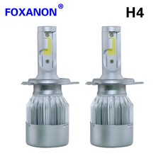 Foxanon Car Headlight H7 H4 LED H8/H11 HB3/9005 HB4/9006 H1 H3 9012 H13 9007 72W 8000lm Auto Bulb Headlamp 6000K Light For cars