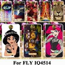 Soft TPU Silicone Phone Cases For Fly IQ4514 quad EVO Tech 4 IQ 4514 tech4 5.0 inch case Housing Phone Skin Painted Cover Shell