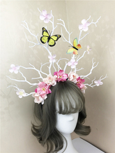 Unique Kwaii Gothic Floral Headdress Tree Branch Headband Party Festival Fancy Dress Costume Hair Accessories