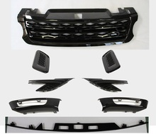 8Pcs Fit Land Rover Range Rover sport 2014 2015 2016 2017 front grille side vent hood vent log lamp cover rear door trim kits(China)