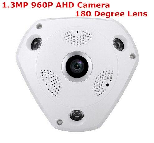 960P AHD Wide Angle FishEye 1.3MP 1.7MM Lens Camera CCTV Indoor ONVIF 3 ARRAY IR LED Security <br>