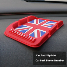Silicone Car Anti Slip Mat Magic Dash Mat Dashboard Sticky Pad For Phone GPS PDA Non Slip Pad Car Sticker Car Phone Number