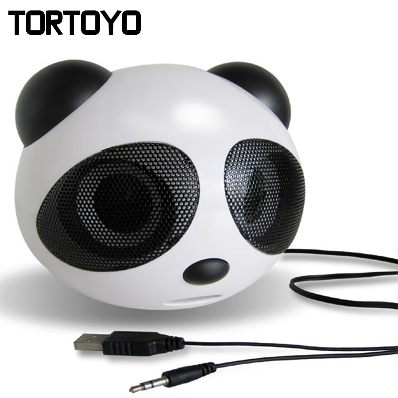 Cute Cartoon Mini Subwoofer Stereo Panda USB Speaker PC Computer Speakers Loudspeaker Voice Box for Smart Phone Laptop Notebook(China (Mainland))