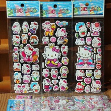Hello Kitty 3D Puffy Bubble Stickers Cartoon Foam Stickers Party Favors for Kids Cute DIY Craft Scrapbook Stickers