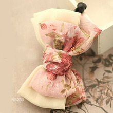 Chiffon Three Layers Floral Bow Banana Hair Clip for Women Summer Hair Accessories For Girls