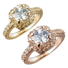 Hot selling Women Bridal Wedding Engagement Party Shiny Luxury Rhinestone Alloy Ring Jewelry  5LJK