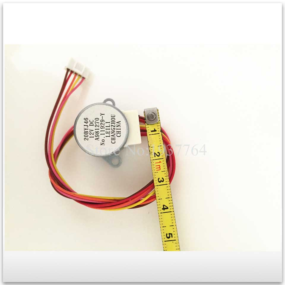 1PCS new Air conditioning drift swing wind motor stepping motor 20BYJ46 12V 16V 20-25cm length