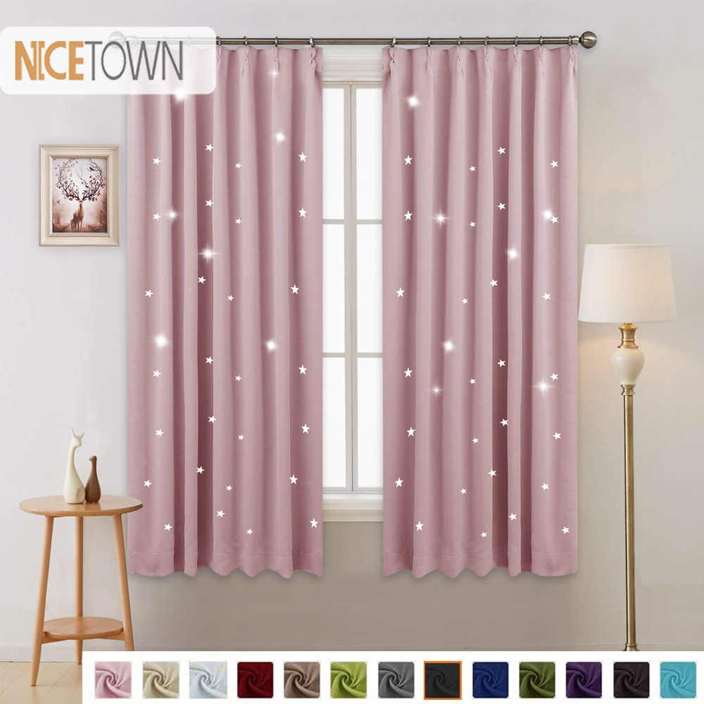 1 Panel Summer Hot Sale Fashio Star Blackout Curtain Japanese Hooks up Drape For Party Decoration Kitchen Home Bedroom