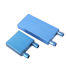 1Pcs 40*80/40*12mm Aluminium Water Cooling Waterblock Liquid Cooler Heatsink Block For CPU Dark Blue or Light Blue Send Random