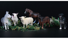 Model animal goat pony farm wild little animal toy Action Figure Animal Model Collection Learning Educational Birthday Boy Gift
