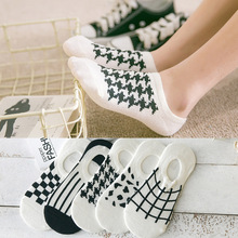 5 styles Invisible Socks Silica Gel Pure Cotton Woman Socks Female Cotton Low Cut Ankle Socks caji08