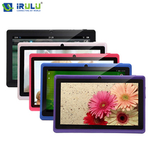 Original iRULU EXpro X1 7'' Tablet Allwinner Quad Core Android 4.4 8GB ROM Dual Cam Support WiFi OTG Free RU Keybaord