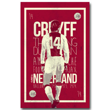 NICOLESHENTING Johan Cruyff Football Legend Art Silk Poster Print 13x20 inches Netherlands Soccer Star Pictures Room Decor 003