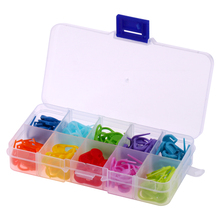 120pcs/Box 10 Colors Mini Case Knitting Accessories Crochet Locking Stitch Plastic Markers Sewing Accessories Tool E5M1(China)