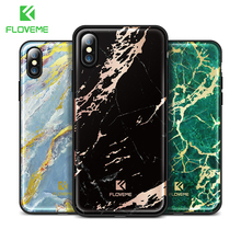 FLOVEME Colorful Marble Case for iPhone X,Luxury Silicon Protective Phone Cases for Apple iPhone 7 8 Plus Cover Mobile Capinhas(China)